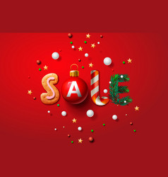 christmas sale background promotional poster for vector image