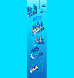 cloud system secured data center isometric vector image