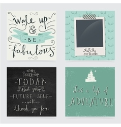 Collection of hand drawn motivation quotes vector