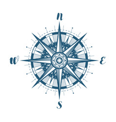 compass wind rose sketch vintage vector image