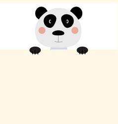 cute animal panda with empty place for text vector image