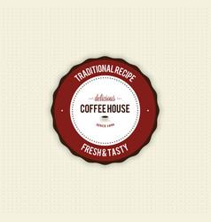Delicious coffee label vector image