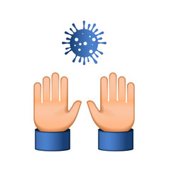 Do not touch me virus novel coronavirus 2019-ncov vector