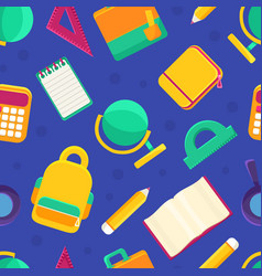 educational supplies seamless pattern back to vector image