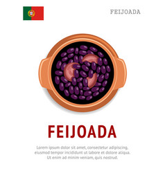 Feijoada national portugal dish vector