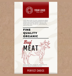 fine quality organic beef abstract meat vector image