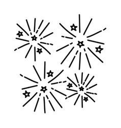 Firecrackers icon doodle hand drawn or outline vector