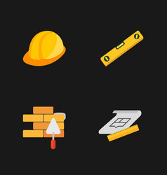 Four under construction icons vector