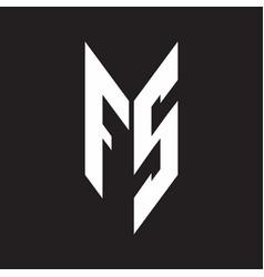 fs logo monogram with emblem style isolated vector image