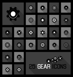 gear icons concepts vector image