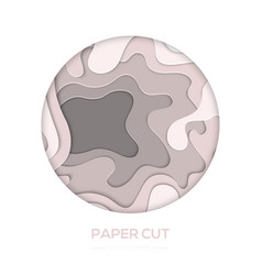 Grey abstract layout - paper cut banner vector