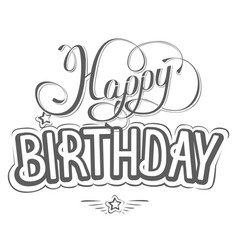 Happy birthday greeting card with a beautiful insc vector