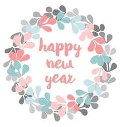 Happy New Year pastel card vector