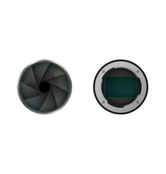 image sensor and shutter vector image