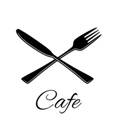 knife and fork icon silhouette in flat vector image