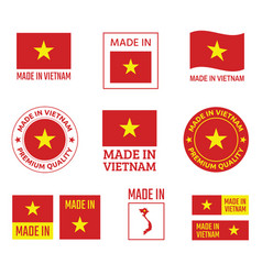 made in vietnam icon set socialist republic of vector image
