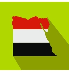 map egypt with image national flag vector image