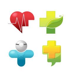 medical icon symbol logo set vector image