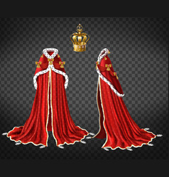 Medieval queen royal garment realistic vector