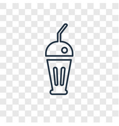 milkshake concept linear icon isolated on vector image