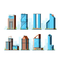 Modern skyscraper corporate offices buildings vector