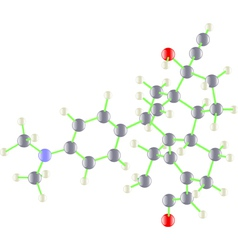 Molecule of ru-486 vector image