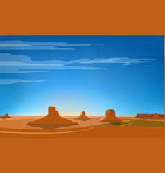 monument valley vector image