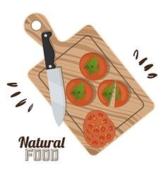 Natural food design vector