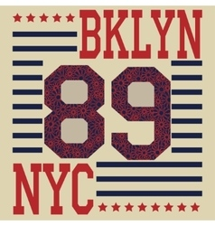 New york Brooklyn sport typography t-shirt vector image