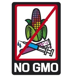 no GMO label vector image
