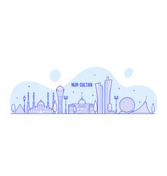 Nur-sultan astana skyline kazakhstan city a vector