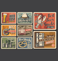 oktoberfest holiday festival beer drink vector image