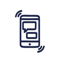 online chat concept talk application logo mobile vector image