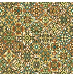 Orange and green abstract patterns vector image
