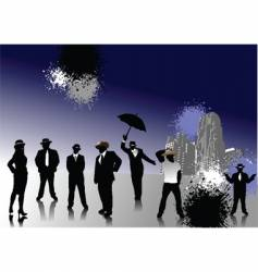 people with hats vector image