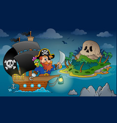 Pirate ship theme image 4 vector