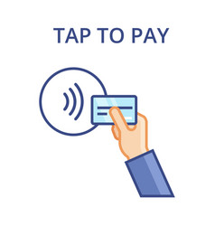 pos terminal confirms contactless payment from vector image