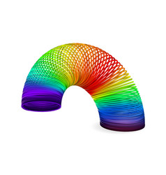 Rainbow spiral spring vector