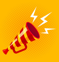 retro striped megaphone vector image
