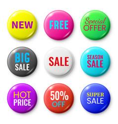 Sale badges buttons special offer shop button vector