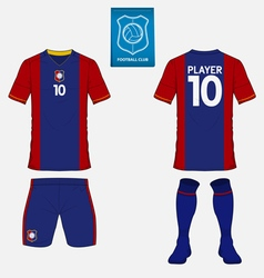 Set of soccer kit or football jersey template vector image