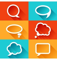 Set of speech bubbles in flat design style vector