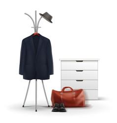 Set wardrobe stuff vector