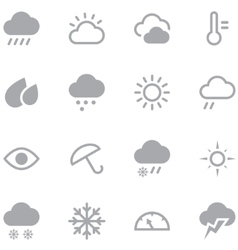 Set weather icons for web and mobile applications vector image