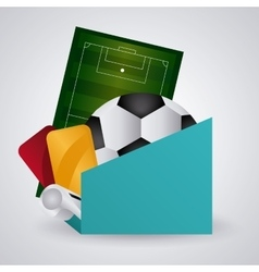 Soccer club design vector image