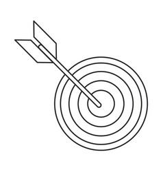 target arrow strategy market thin line vector image