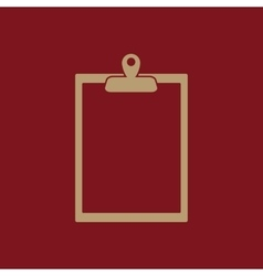 The clipboard icon Paperwork symbol Flat vector