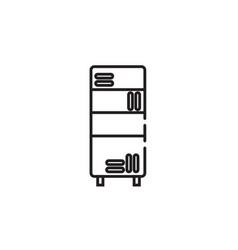 Thin color bookcase icon vector