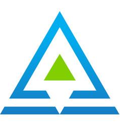 triangle line company logo vector image