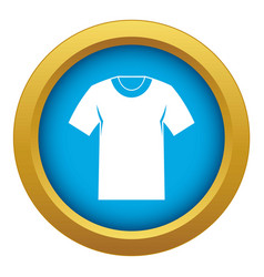 tshirt icon blue isolated vector image